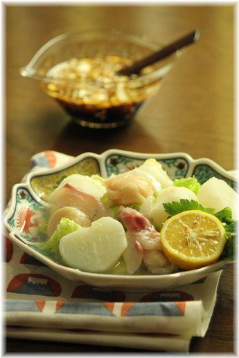 蕪と白菜の つゆだく カルパッチョ。