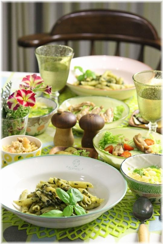 【レシピ】小松菜とバジルのパスタ。と 献立。と 結婚したい?