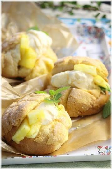 【レシピ】アイスクリームサンドメロンパン。ウクレレと海の日曜日。