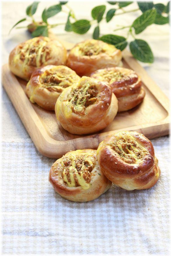 ツナごぼうのカップパン。
