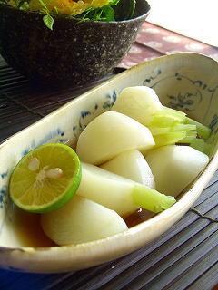 かぶのお浸し 柚子胡椒風味。