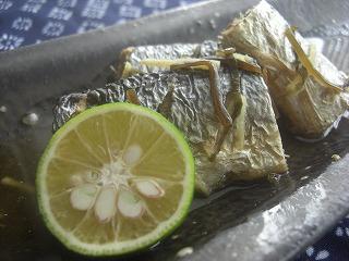 秋刀魚のサッパリ☆生姜昆布煮。 と献立。
