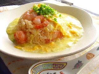 コーンスープのあんかけ炒飯☆