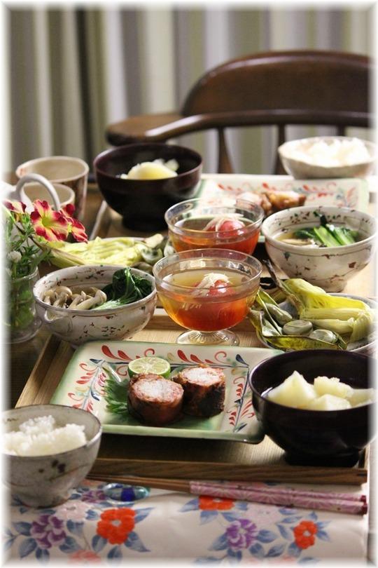 【レシピ】長芋巻お肉の西京焼き。と 献立。 と 夜のお届けもの♪