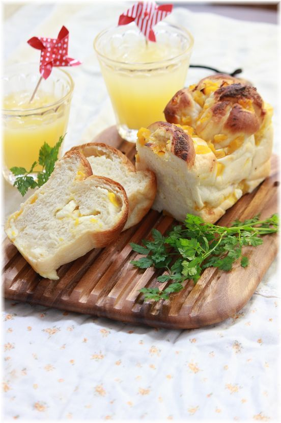 冷やして食べる マンゴークリームチーズパン。