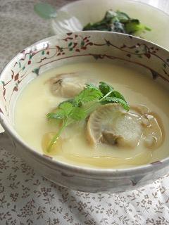 ホタテとお豆腐の茶碗蒸し。 と献立。
