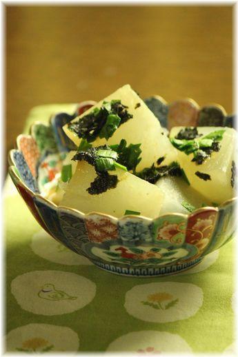 大根の味噌海苔煮。
