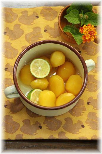 栗の甘露煮 柑橘シロップ漬け。