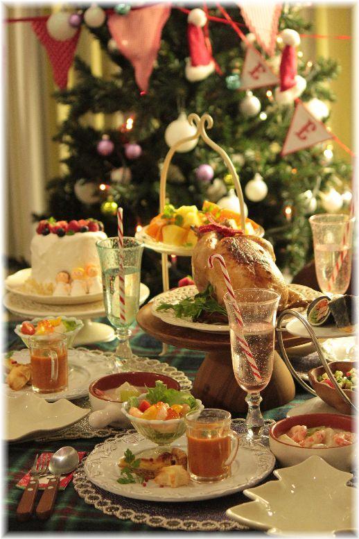 お鍋で作るローストチキン 醤油牛蒡編。 と クリスマスイブの献立。