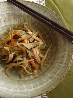 牛蒡の柚子胡椒サラダ。