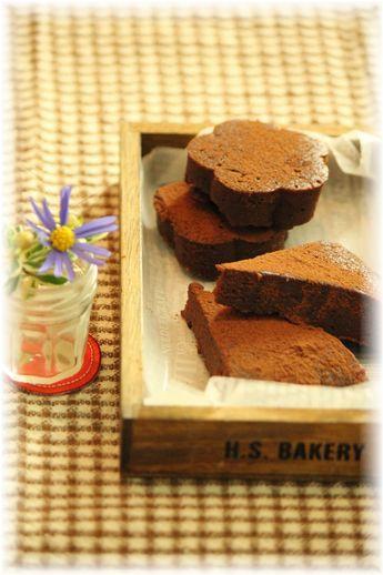 お豆腐で作る・しっとり炊飯器チョコケーキ。