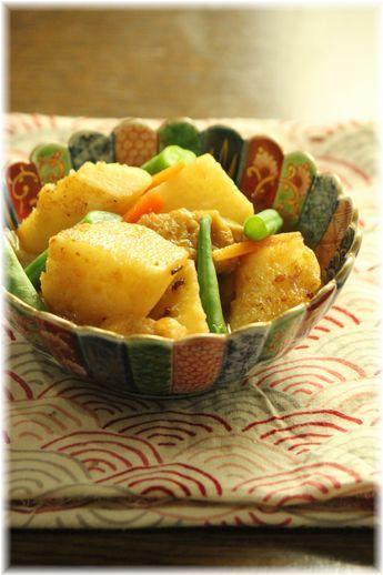 焼き長芋の味噌煮。 と献立。