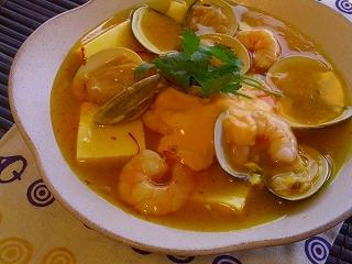 黄色い麻婆豆腐。