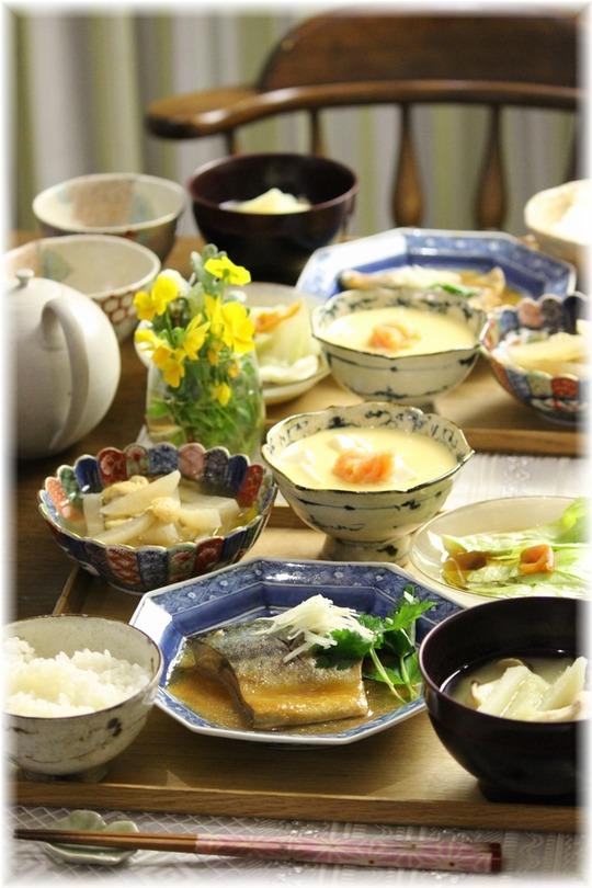 【レシピ】さばの味噌煮。と 献立。 と うれしいこと。