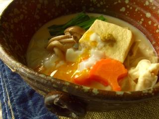 大豆家族の煮物・温玉のっけ。