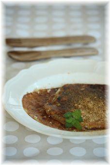 お豆腐の薄焼きパンケーキ。