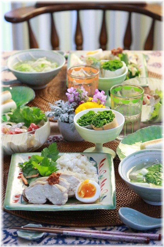 【レシピ】炊飯器でハイナンライス。と 献立。と優しい人の周りには。