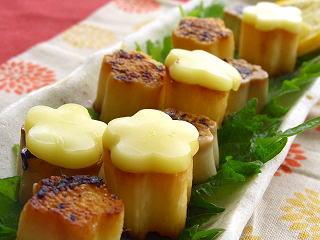 お豆腐と長芋の幽庵焼き。