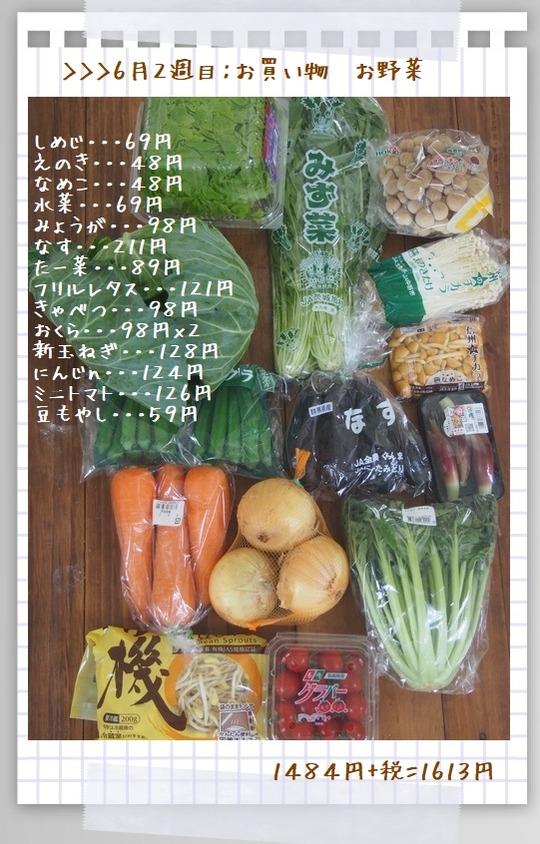 yhf26月3日~9日のお買い物(野菜)