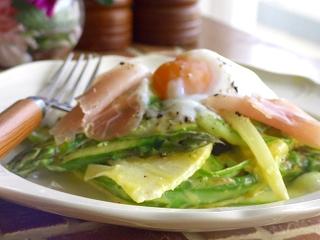 春野菜のカルボナーラ☆サラダ。