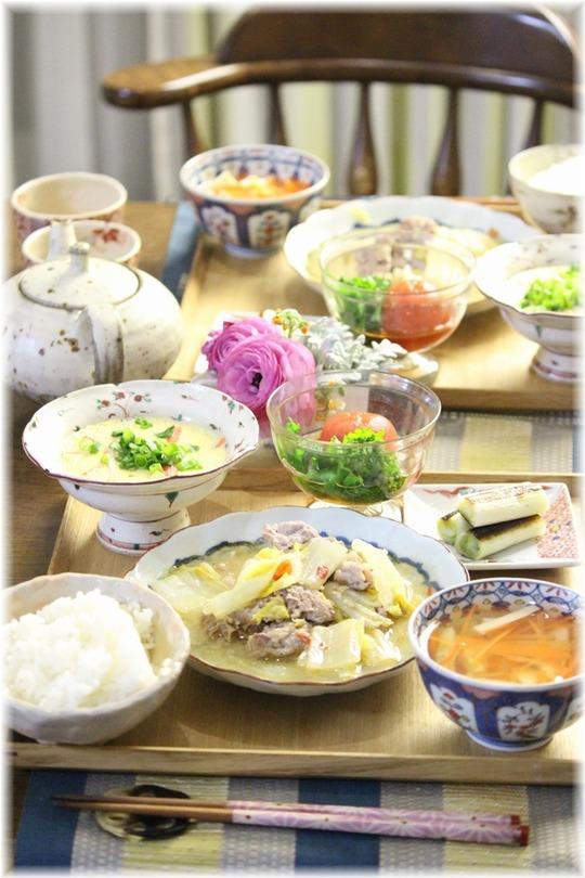 【レシピ】白菜と豚肉のピリ辛味噌煮。と 献立。と かきくうかい と 長考。