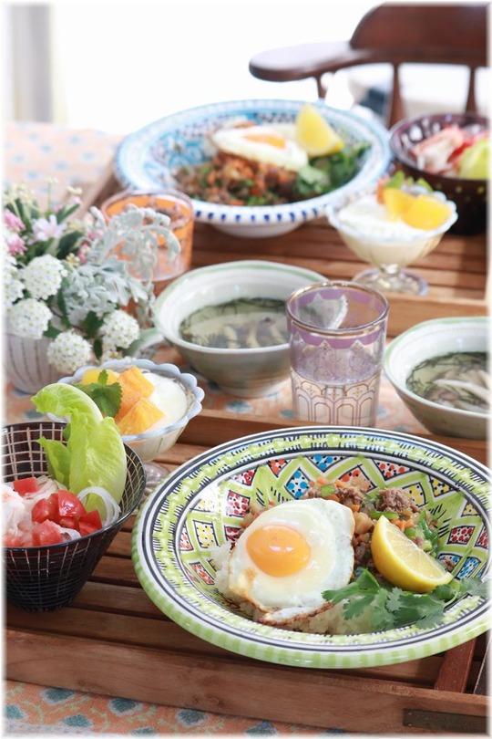 【レシピ】レンチン5分の食べやすいガパオライス。と お昼ごはん。と 洗濯もの。