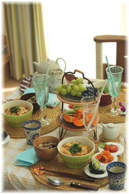 韓国のりと しらす の 生春巻き。 と お友達献立・簡単お昼。