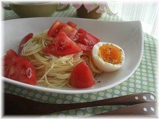 トマトとしらすと、ゆで卵のパスタ。 そして、日テレ。