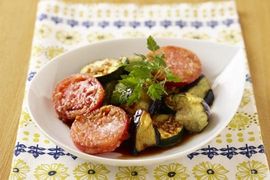 夏野菜のオリーブオイルステーキ
