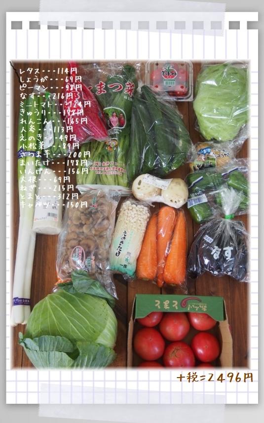 仕込み野菜買い物