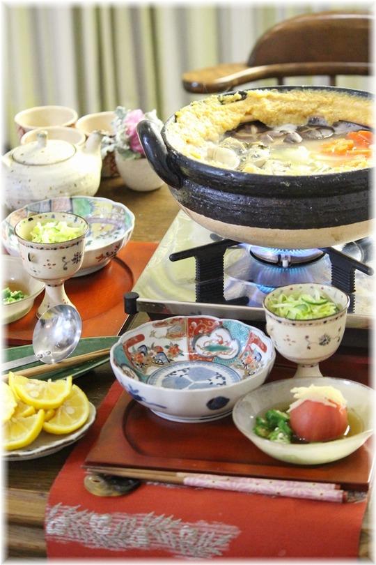 【献立】牡蠣の土手鍋。と 献立。と 欲張り。
