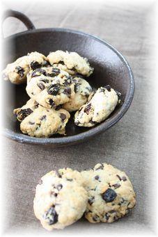 レーズンとチョコチップのホロホロクッキー。