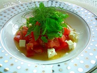 トマトのフレッシュ・チュミチュリサラダ