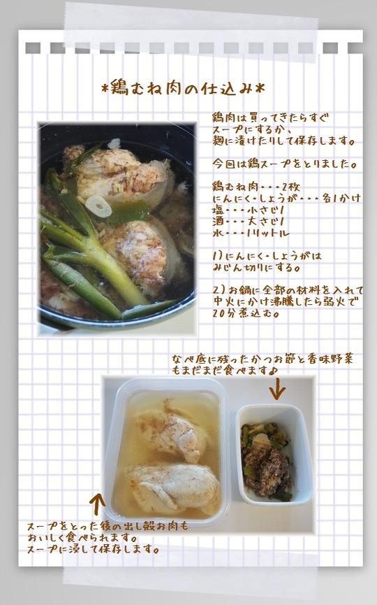 鶏むね肉の仕込み。