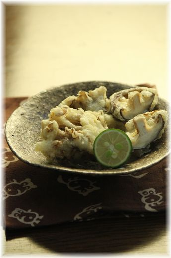 冷めてもカリカリ舞茸天ぷら。 と献立。