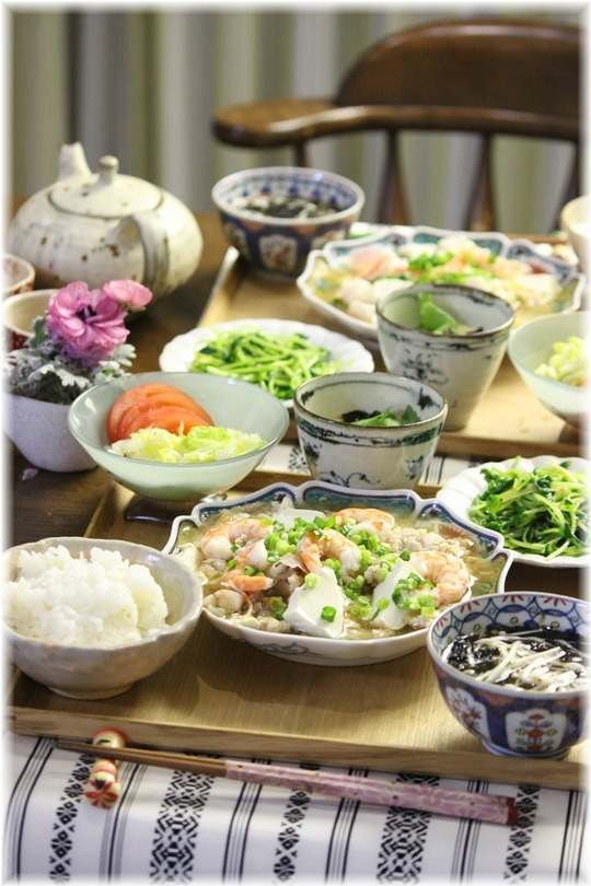 【レシピ】和風おかか麻婆豆腐。と 献立。 と 憧れ。