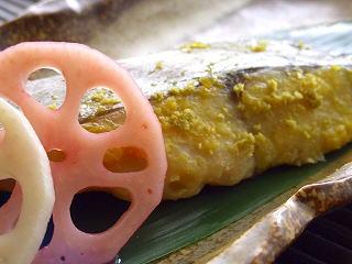 鰆の西京焼き・柚子胡椒風味。