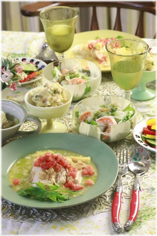 【レシピ】レンチン・イタリアン親子チキン。←なんか韻を踏んでる^^ と 献立。と 腰痛治ってきた。