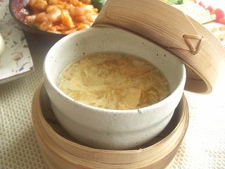 中華風あんかけ茶碗蒸し。 と献立。