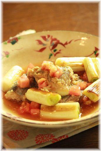 秋刀魚と焼き葱の中華煮。 と献立。