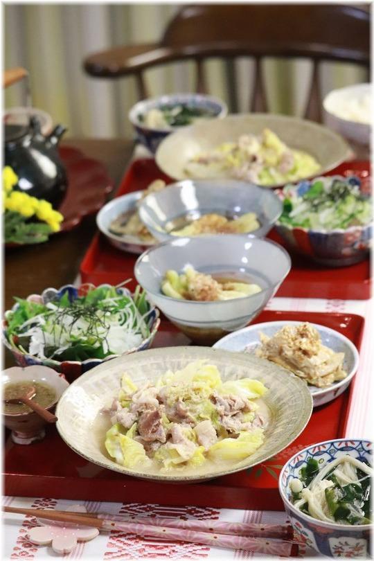 【レシピ】キャベツと豚小間のバンバンジー煮込み。と 献立。と 会えないけど会えるまで。