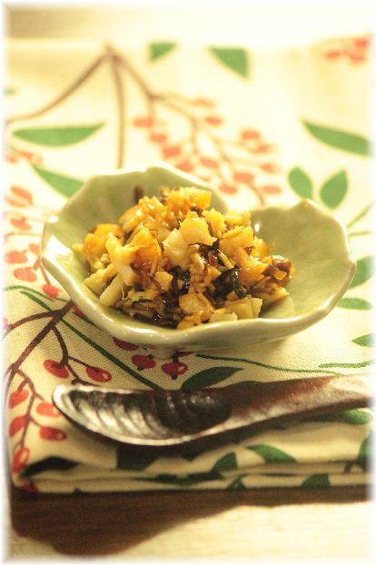 生姜と塩昆布の 薬味 湯豆腐。 と 献立。