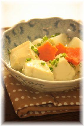 ふわとろ豆腐と蕪の出汁煮。 と献立。