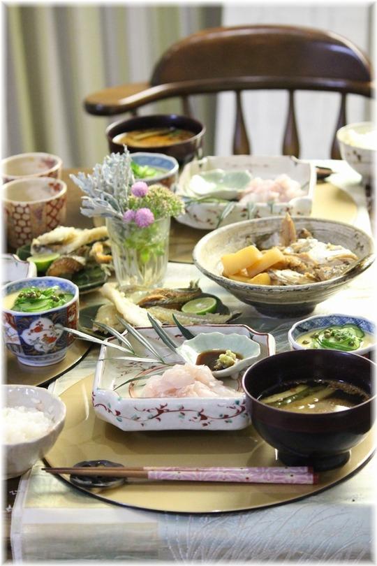 【献立】釣りに行った日の献立。と お刺身・ヒレ煎餅・アラ炊き・おいしい発見いっぱいあった!!!