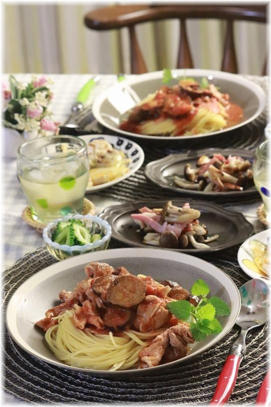【レシピ】レンチン茄子と豚肉のトマトソースパスタ。と 献立。と 「優しい」について。