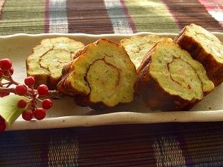 YOME的おせち☆青海苔とチーズ入りの伊達巻。