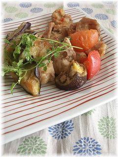 夏野菜の甘辛カレー炒め。 とTBS。