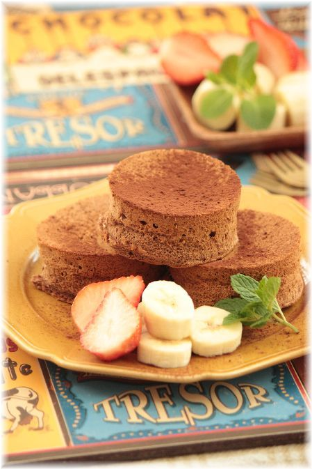 チョコレートパンケーキ。と バレンタインおやつの 献立(?)