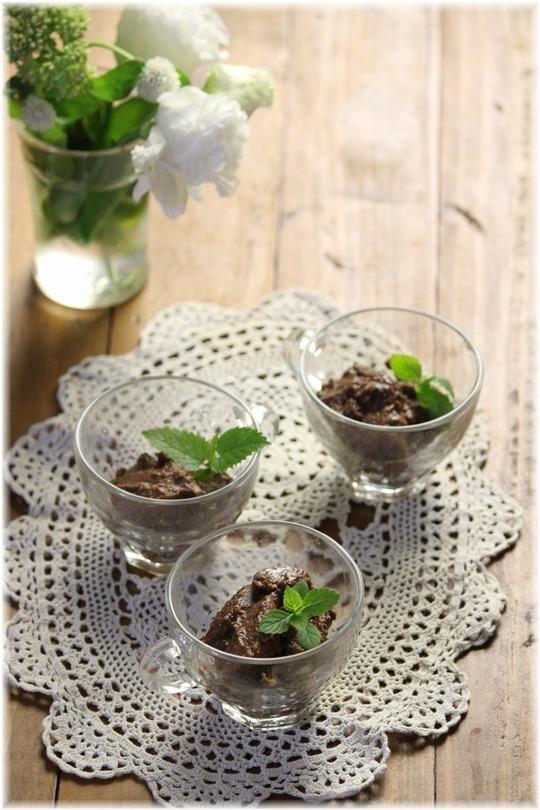 【レシピ】材料3つの冷たいチョコデザート。 と 今日のお素麺。