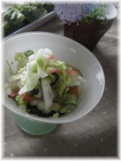 生白菜の塩レモンサラダ。 と献立。